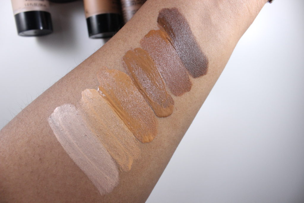 Black Opal True Color Pore Perfecting Liquid Foundation Swatches +