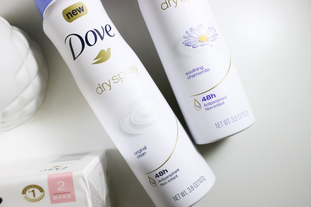 dove dry spray and pink beauty bar 2