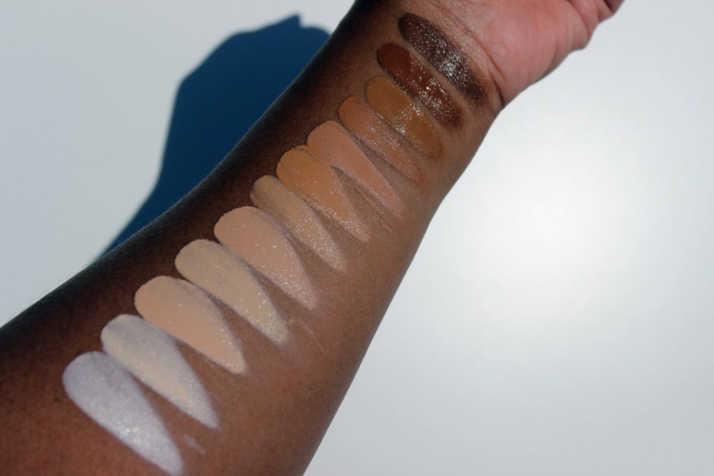 mehron celebre pro hd cream foundation contour highlight palette review swatches images 10