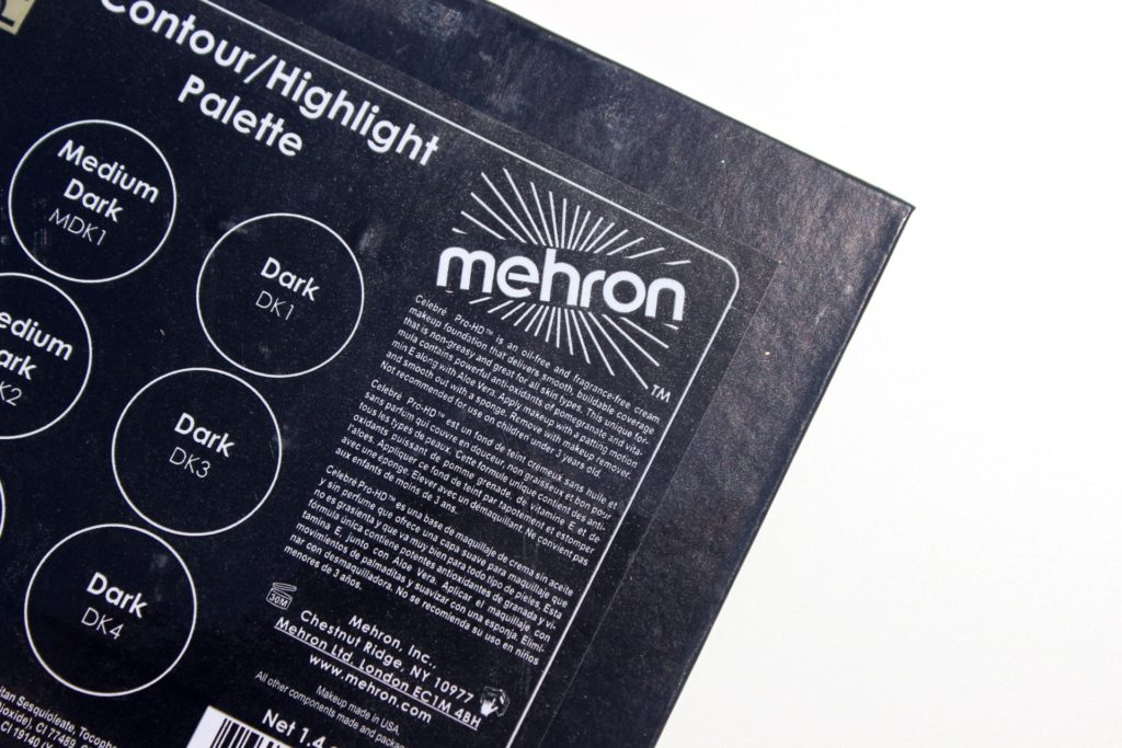mehron celebre pro hd cream foundation contour highlight palette review swatches images 12